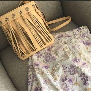 Leather Fringe Cross body Bag Like New